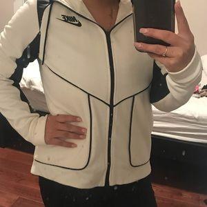 Nike black and white zip up hoodie size medium